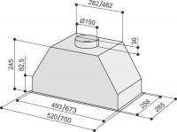 Вытяжка Best PASC 780 нержавеющая сталь