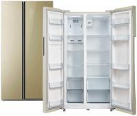 Холодильник Biryusa SBS587 GG бежевый