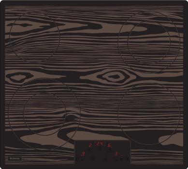 Варочная поверхность Hansa BHC63501 коричневый
