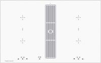 Индукционная варочная панель со встроенной  вытяжкой Kuppersbusch KMI 8500.0 WR