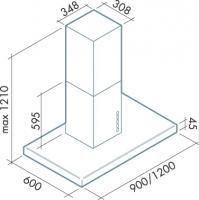 Вытяжка Falmec Lux 120/800 Isola нержавеющая сталь