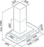 Вытяжка Falmec Mithos 90/800 нержавеющая сталь